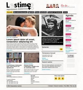Site Lestime - maquette
