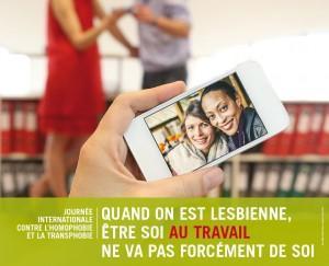 Affiches de la Ville de Genève contre l'homophobie et la transphobie