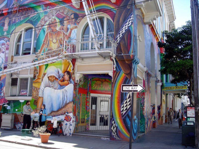 Fresque de la Maison des Femmes de San Francisco