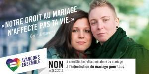Actions de campagne à Genève «Avançons ensemble» contre l'initiative discriminatoire du PDC
