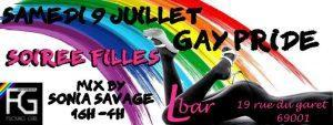 Soirée officielle fille à la Gay Pride de Lyon !