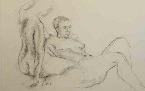 """Atelier de dessin : """"Duo de femmes et draperies"""""""