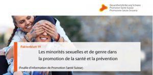 Promotion Santé Suisse : « Les minorités sexuelles et de genre dans la promotion de la santé et la prévention »