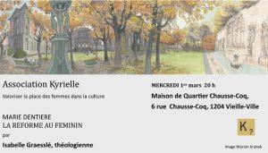 Tout savoir sur Marie Dentière et la réforme au féminin