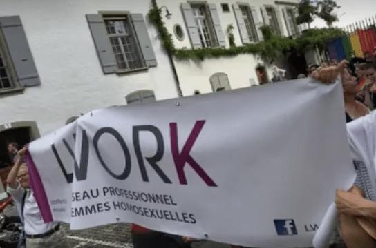 Pride 2017 à Berne avec la présence de nos amies de LWORK