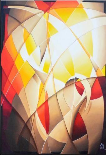 peinture-abstraite-moderne-jaune-orange