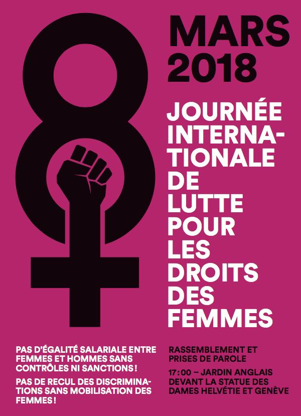 8 mars : Journée internationnale de lutte pour les droits des femmes