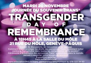 Journée du Souvenir Trans*