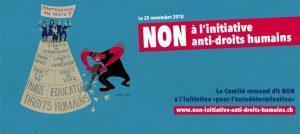 Votez non à la dangereuse initiative « Le droit suisse au lieu du droit étranger »